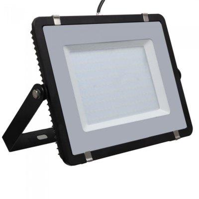 Image of   V-Tac 200W LED projektør - Samsung LED chip, arbejdslampe, udendørs - Kulør : Kold, Dæmpbar : Ikke dæmpbar, Farve på hus : Sort