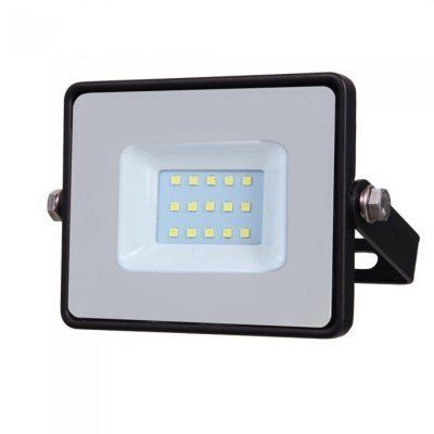 Image of   V-Tac 10W LED projektør - Samsung LED chip, arbejdslampe, udendørs - Kulør : Kold, Dæmpbar : Ikke dæmpbar, Farve på hus : Sort