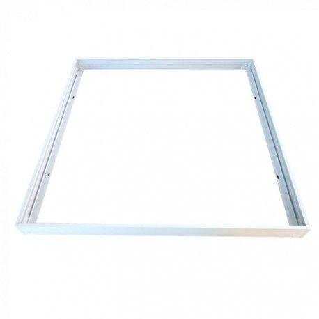 Ramme til 60x60 LED panel - Hurtig skrueløs samlesæt, hvid kant