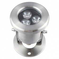 Projektører 10W LED sø/pool projektør - Varm hvid, IP68, 100% vandtæt, Rustfri, 12V