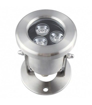 10W LED sø/pool projektør - Varm hvid, IP68, 100% vandtæt, Rustfri, 12V