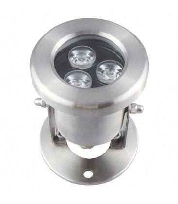 8W LED sø/pool projektør - Varm hvid, IP68, 100% vandtæt, Rustfri, 12V