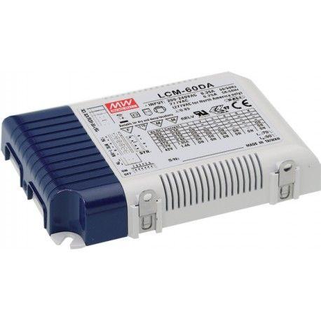 Meanwell LCM-60DA DALI dæmpbar driver til LED panel - Med Dali interface, passer til vores 45W LED paneler