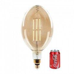 LED Globe pærer E27 V-Tac 8W LED kæmpe globepære - Kultråd, Ø18 cm, dæmpbar, ekstra varm hvid, 2000K, E27