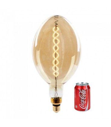 V-Tac 8W LED kæmpe globepære - Kultråd, Ø18 cm, dæmpbar, ekstra varm hvid, 2000K, E27