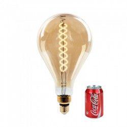 LED Globe pærer E27 V-Tac 8W LED kæmpe globepære - Kultråd, Ø16 cm, dæmpbar, ekstra varm hvid, 2000K, E27