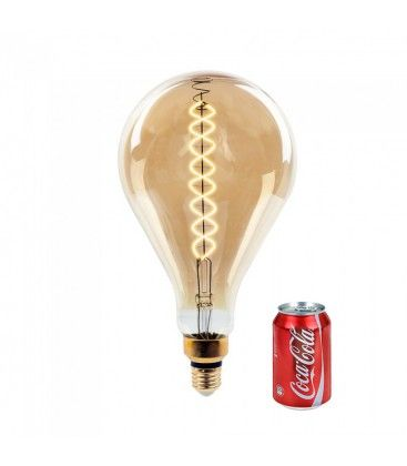 V-Tac 8W LED kæmpe globepære - Kultråd, Ø16 cm, dæmpbar, ekstra varm hvid, E27