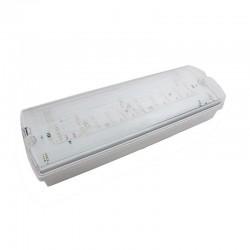 Exit/Nødudgang skilte LED V-Tac 3W LED nødbelysning - Til væg/loft montering 140 lumen, inkl. batteri og piktogrammer