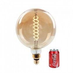 E27 Stor fatning V-Tac 8W LED kæmpe globepære - Kultråd, Ø20 cm, dæmpbar, ekstra varm hvid, E27
