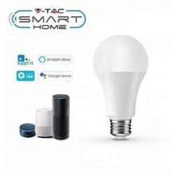 E27 Stor fatning V-Tac 9W LED pære - Virker med Google Home, Alexa og smartphones