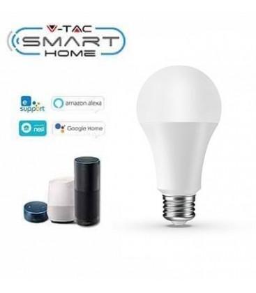 V-Tac 9W E27 LED pære - Virker med Google Home, Alexa og smartphones