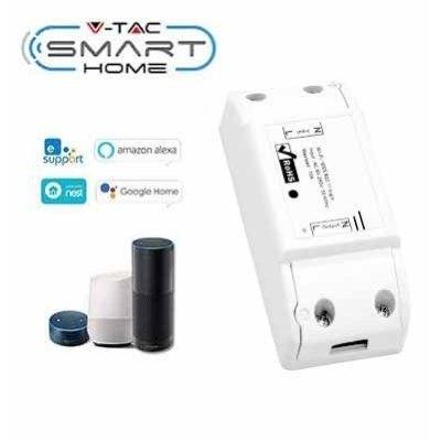 Image of   V-Tac Smart Home Wifi afbryder - Virker med Google Home, Alexa og smartphones