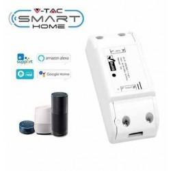 V-Tac Smart Home Wifi afbryder - Virker med Google Home, Alexa og smartphones