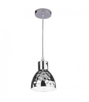 V-Tac kobber pendel lampe - Krom farve, Ø15cm, E27