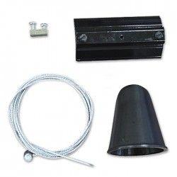 Skinnespots LED V-Tac wireophæng til skinner - Sort, passer til V-Tac skinner, 3-faset