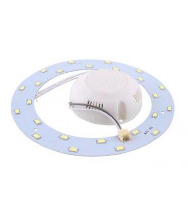 6W LED indsats - Ø11 cm, erstat cirkelrør og kompaktrør