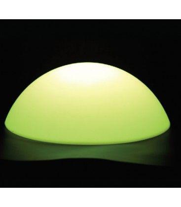 V-Tac RGB LED halvkugle - Genopladelig, med fjernbetjening, Ø50 cm