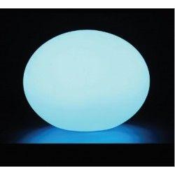 V-Tac RGB LED oval kugle - genopladelig med fjernbetjening, Ø20 cm