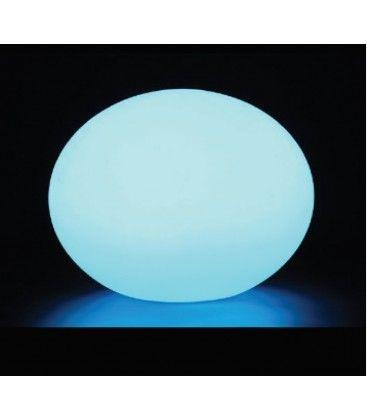 V-Tac RGB LED oval kugle - Genopladelig, med fjernbetjening, Ø20 cm