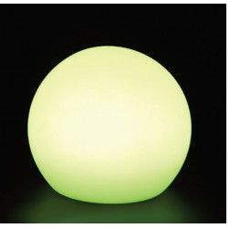 V-Tac RGB LED kugle - genopladelig med fjernbetjening, Ø30 cm