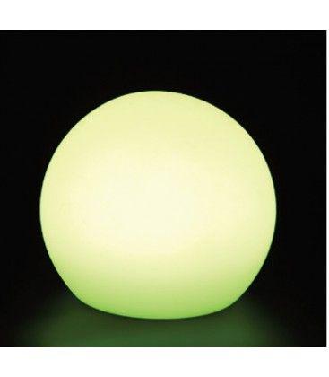 V-Tac RGB LED kugle - Genopladelig, med fjernbetjening, Ø30 cm