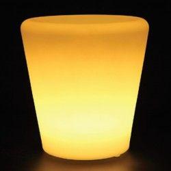 V-Tac RGB LED potteskjuler - genopladelig med fjernbetjening, 28x28x29 cm