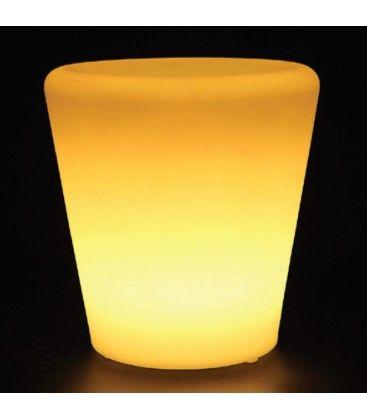 V-Tac RGB LED potteskjuler - Genopladelig, med fjernbetjening, 28x28x29 cm