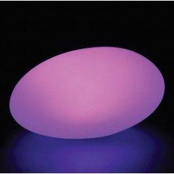 Havelamper V-Tac RGB LED sten - genopladelig med fjernbetjening, 28x21x17 cm