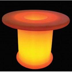 V-Tac RGB LED bord - genopladelig med fjernbetjening, Ø70x54 cm