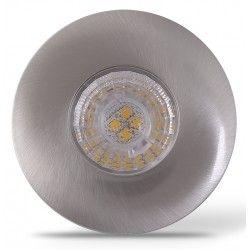 Indbygningsspot LEDlife Inno69 møbelspot - Hul: Ø5,5 cm, Mål: Ø6,9 cm, RA95, børstet stål, 6V