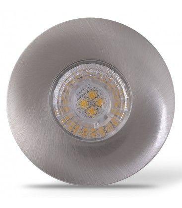 LEDlife Inno69 møbelspot - Hul: Ø5,5 cm, Mål: Ø6,9 cm, RA95, børstet stål, 6V