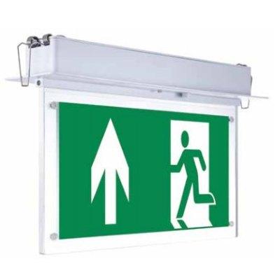 Billede af V-Tac loftmonteret/indbygget LED exit skilt - 2W, Samsung LED chip