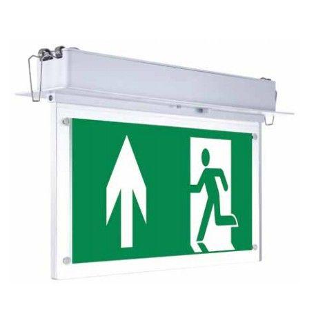 V-Tac loftmonteret/indbygget LED exit skilt - 2W, Samsung LED chip