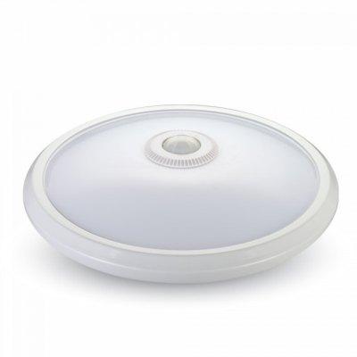 Image of   V-Tac 12W LED sensorlampe - Samsung LED chip, PIR sensor, IP20 indendørs, 230V, inkl. lyskilde - Kulør : Neutral, Dæmpbar : Ikke dæmpbar