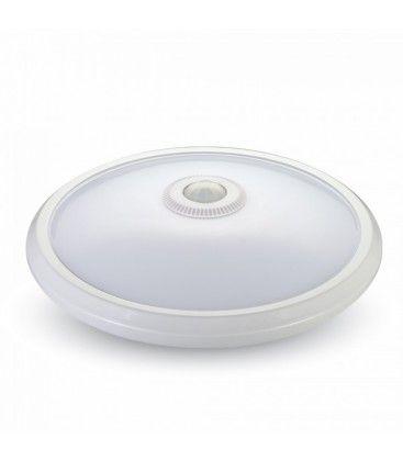 V-Tac 12W sensorlampe - IP20, PIR sensor, 230V, Samsung chip