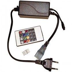 230V RGB Neon Flex 8x16 RGB controller til Neon Flex LED - Inkl. endeprop, Infrarød, 230V