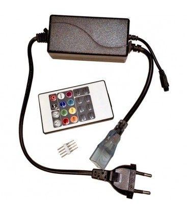 8x16 RGB controller til Neon Flex LED - Inkl. endeprop, Infrarød, 230V
