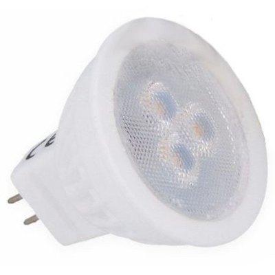 Image of   3W LED spotpære - Keramisk, 35mm, 12V, MR11 / GU4 - Kulør : Varm, Dæmpbar : Ikke dæmpbar