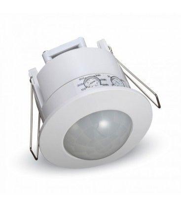 V-Tac bevægelsessensor til indbygning - LED venlig, hvid, PIR infrarød, IP20 indendørs