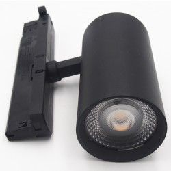 Lamper LEDlife sort skinnespot 30W - Flicker free, Citizen LED, RA90, 3-faset
