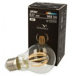 E27 Stor fatning 8W LED Pære - Kultråd LED, E27, A60D