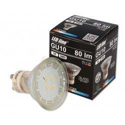 Plantelys til private Grøn LED spot - 1W, 230V, GU10
