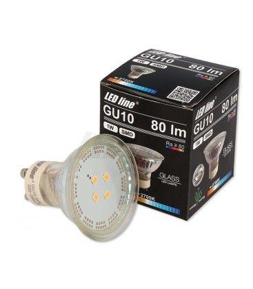 Grøn LED spot - 1W, 230V, GU10