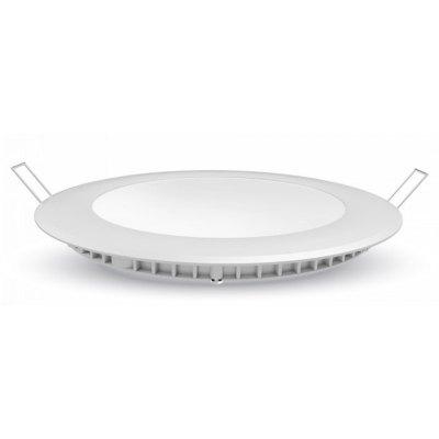 Image of   V-Tac 6W LED indbygningspanel - Hul: Ø11 cm, Mål: Ø12 cm, 230V, Samsung chip - Kulør : Kold, Dæmpbar : Ved tilkøb