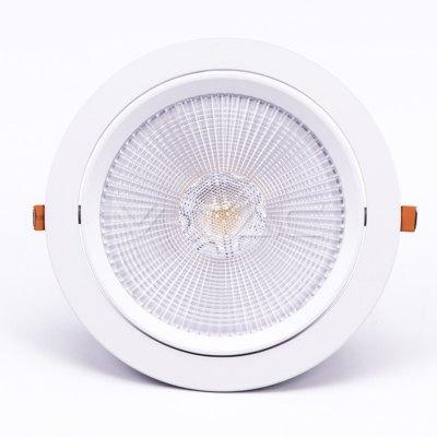 Image of   V-Tac 30W LED indbygningsspot - Hul: Ø19,5 cm, Mål: Ø22,5 cm, 3 cm høj, Samsung LED chip, 230V - Kulør : Kold, Dæmpbar : Ikke dæmpbar