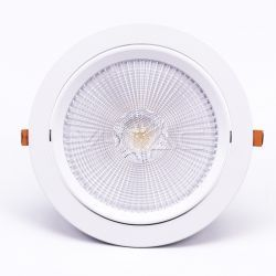 LED downlights V-Tac 30W LED indbygningsspot - Hul: Ø19,5 cm, Mål: Ø22,5 cm, 3 cm høj, Kan kippes, Samsung chip, 230V