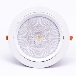 LED indbygningspaneler V-Tac 30W LED spotlight - Hul: Ø19,5 cm, Mål: Ø22,5 cm, 3 cm høj, Samsung LED chip, 230V
