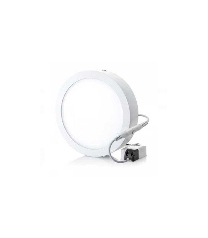 V Tac 18W LED loftslampe Ø19cm, Højde: 2,4cm, hvid kant, inkl. lyskilde