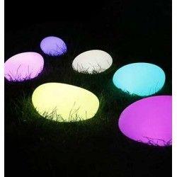 Lamper V-Tac RGB LED sten - Genopladelig, med fjernbetjening, 28x21x17 cm