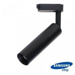 Lamper V-Tac sort skinnespot 7W - Samsung LED chip, 3-faset